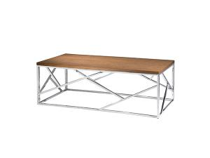 Alondra Cocktail Table w/ Wood Top -- Trade Show Rental Furniture