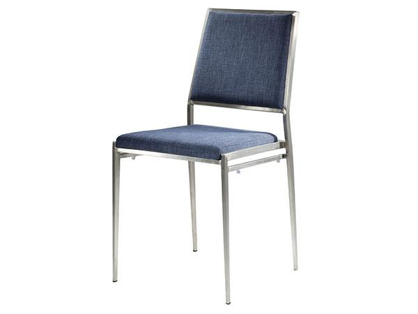 CEGS-022 | Marina Chair Ocean Blue Fabric -- Trade Show Furniture Rental