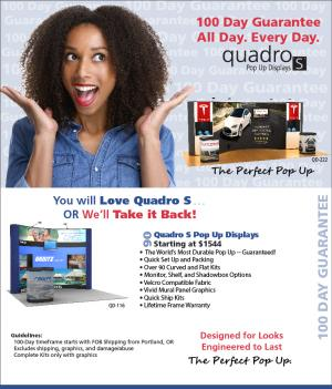 Quadro S Pop Up 100-Day Guarantee