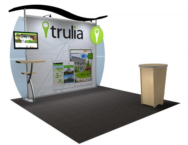 VK-1234 Portable Hybrid Trade Show Exhibit -- Convex Wings