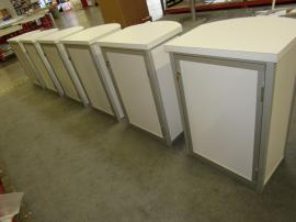 (6) MOD-1267 Modular Counters with Locking Door and Shelf -- Back View