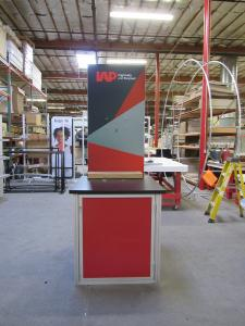 Custom Monitor/Kiosk Tower with Tension Fabric and Direct Print Graphics -- Front View