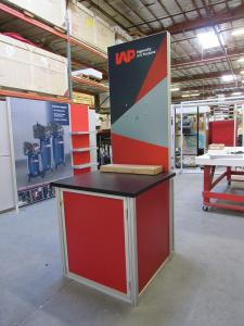 Custom Monitor/Kiosk Tower with Tension Fabric and Direct Print Graphics -- Side View